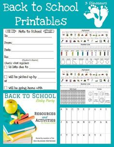 FREE Back to School Printables: New Note to School, Desk Help & Traveling Word Wall !