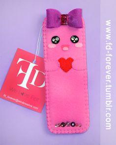 M!SS.FD - handmade felt Bookmark   FD.FOREVER's original design♥ So Girly