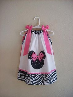 Custom Boutique Pillowcase Dress MINNIE MOUSE w/ by AnnMargrock, $26.99