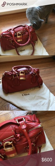 Chloe Paddington purse Clean inside dust bag included slight wear on side piping just needs conditioning no tears or scratches still great condition No Trades will take additional photos if requested  Chloe Bags