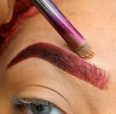 Red Hair And Red Eyebrows, Short Eyebrows, Bleached Eyebrows, Straight Eyebrows, Black Eyebrows, Dark Red Hair, How To Color Eyebrows, Korean Eyebrows, Blonde Eyebrows
