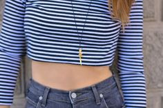 Gans  & Strips Personal Style, Crop Tops, Women, Fashion, Moda, Fashion Styles, Fashion Illustrations, Cropped Tops, Crop Top Outfits