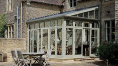 lean to conservatory on listed building in gloucestershire