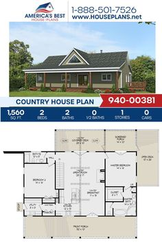 Looking for a simple Country design to settle down in? Plan 940-00381 can fulfill those dreams, delivering 1,560 sq. ft., 2 bedrooms 2 bathrooms, a flex room, a screened porch, a vaulted deck and an open floor plan. Go to our website for more details on Plan 940-00381. Best House Plans, Country House Plans, Floor Plan Drawing, Stair Detail, Dormer Windows, Flex Room, Covered Decks, House Stairs, Build Your Dream Home