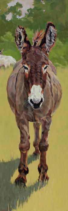 Burro,Donkey,Mule,farm animal,animal,painting,oil on linen,art,Patricia A Griffin,Griffin,Patricia Griffin