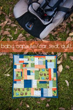 baby capsule or car seat quilt {tutorial}