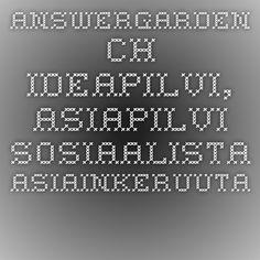 answergarden.ch - ideapilvi, asiapilvi... Sosiaalista asiainkeruuta.