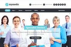 linics, hospitals, doctors, and nurses - the MyMedic WordPress theme has been created just for you.  Whether you want to promote your own abilities online or publicize the health-related services you offer, the MyMedic theme has a design and feature list to make that possible.  Thanks to the flexibility of this theme, your website can have the look and feel to match your business and its goals.  Find out more and see