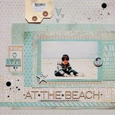 beach scrapbooking layout | Scrappin' Inspiration | Pinterest