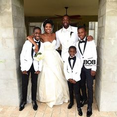 Gabrielle Union and Dwyane Wade had a family moment at their wedding.