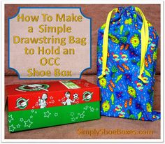 Simply Shoe Boxes: Simple Drawstring Tote-bag to Hold a Shoe Box ~ Il...