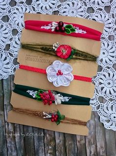 Christmas headbands / photo props