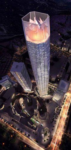 Dongguan Intenational Trade Center, Dongguan, China by 5+ Design :: 88 floors, height 426m