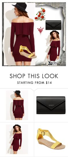 """burgundy dress"" by muamera03 ❤ liked on Polyvore featuring Balenciaga and Kenneth Cole Reaction"
