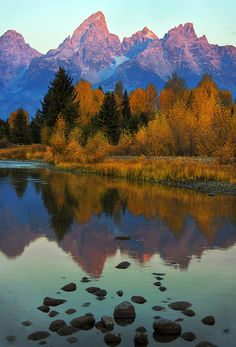 Sunrise at the Grand Tetons by Dave McEllistrum ~ truly a must see cuz it's BEAUTIFUL there!