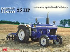 The #FARMTRAC HERO #Tractor gives you better stability on the fields with 35 HP...