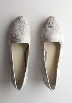 // marbled leather rachel comey flats