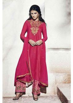 couleur rose georgette salwar kameez, - 127,00 €, #Tenuepakistanaise #Tenueindienne #Robeindienne #Shopkund