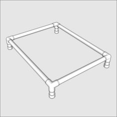 These Large Dog Bed plans provide a comfortable place for your pet to bed down, raised above the floor. Includes instructions for installing bedding material. Dog Beds For Small Dogs, Large Dogs, Pvc Dog Bed, Pvc Pipe Projects, Dog Items, Dog Hacks, Dog Agility, Pet Beds, Dog Houses