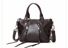 Fashion Women Casual Vintage Messenger Bag Shoulder Crossbody Bag Genuine Leather