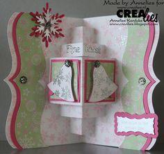 Werkwijze op het Crealiesblog: http://www.crealies.blogspot.nl/2015/10/crealies-create-card-no-18.html Crealies items: Crealies Create A Card stans no. 18 (CCAC18) Crealies Create A Card stans no. 18 Download 1 Bits & Pieces stempel no. 34 sneeuwvlok 4 (CLBP04) On the Edge no. 5 (CLOTE05) Crea-Nest-Lies XXL no. 8 en 22 (CLNestXXL08 en CLNestXXL22) Crea-Nest-Lies Small no. 3 kerstklok (CNLS03) Duo Dies no. 4 (CLDD04)