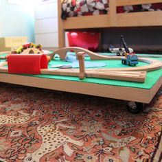 DIY Tuck-Away Train Table for Tykes by Jennifer Perkins