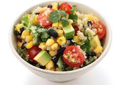 Quinoa, corn, and black bean salad