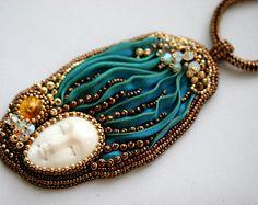 Sister Shibori Beaded necklace - RESERVED for Sandra