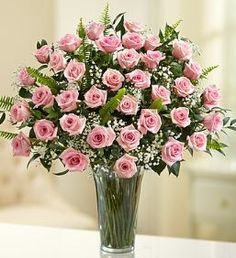 Ultimate Elegance™ Long Stem Pink Roses ~ Donna's Garden Birthdays, anniversaries, first dates--any special occasion becomes a spectacular event with a gift of premium long-stem pink roses. Great gift