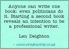 Quotable - Len Deighton - Writers Write Creative Blog