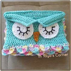 Crochet Baby Owl Cocoon - Baby Sack - Sleeping Owl - Photo Prop - Scented Pastels