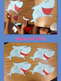 Apples and ABCs: Duh Duh...Duuuuuh Duh: A Shark Craftivity