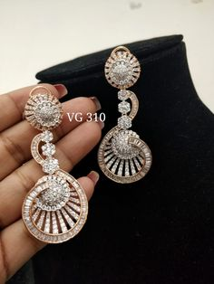 Diamond Jewellery available at AnkhJewels for booking WhatsApp on Diamond Earrings Indian, Diamond Earing, Rose Gold Earrings, Diamond Jewellery, Indian Jewelry, Unique Jewelry, New Jewellery Design, Diamond Tops, Fashion Rings