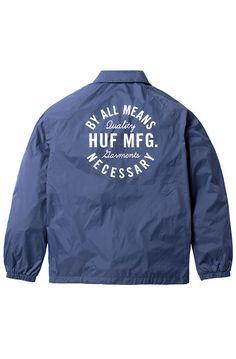 77a53b841d8a3 HUF Jacket Bundy Coachs Navy Blue. Alonzo Collins · Men s Fashion
