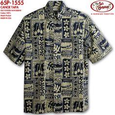 Cowichan Family | Rakuten Global Market: Go raise of wages foot (GO BAREFOOT )|) Hawaiian shirt | go-1555 CANOE TAPA (canoe tapa )|) Navy | 100% of cotton (100 Cotton %)|) Normal collar (regular color )|) Full opening | Short sleeves