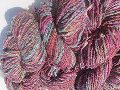 Noro Kogarashi Yarn Wool, Silk 4 skeins Color 9 Fuchsia, Green, Orange #Noro #HandDyed