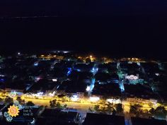 Night bird eye view from Asprovalta   #Asprovalta #Vrasna #Greece #Holidays #Beach #Thessaloniki #Vacation  http://asprovalta-vrasna.gr/