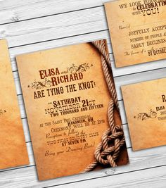 Rustic country wedding invitations - barn wedding western country wedding