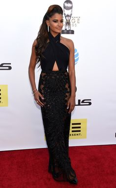 Claudia Jordan from NAACP Image Awards 2016: Red Carpet Arrivals   E! Online