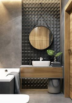 Remodel 53 Affordable Bathroom Tile Designs 18 - New Ideas - # Tile designs # remodel 53 affordable bathroom remodel tile designs 18 53 Af - Bad Inspiration, Bathroom Inspiration, Modern Bathroom Design, Bathroom Interior Design, Restroom Design, Modern Design, Shower Remodel, Remodel Bathroom, Tub Remodel