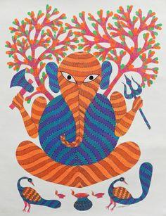 Gond art of India Glass Painting Patterns, Art Painting, Tribal Art, Madhubani Art, Mural Art, Turtle Painting, Indian Folk Art, Madhubani Painting, Kalamkari Painting