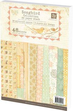 Prima - Songbird Collection - A4 Paper Pad at Scrapbook.com $9.99