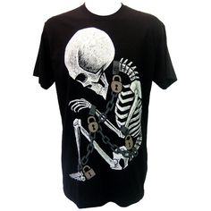 Akumu Ink Chained Skeleton | Gothic Clothing | Emo clothing |... ($27) ❤ liked on Polyvore