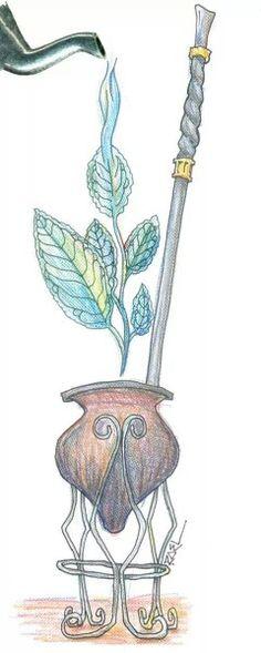. Gaucho, Love Mate, Yerba Mate Tea, Herbal Tea, Future Tattoos, Gourds, Wicca, Art Projects, Drawings