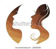 Woman  vector logo,  girl silhouette