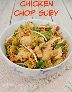 Restaurant quality Chicken Chop Suey made in less time than it will take to have an order delivered ! Fresh, crunchy and tasty !
