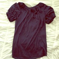 Banana Republic Silk Shirt Navy silk shirt- worn once! 100% silk. Gorgeous for work or out! Banana Republic Tops Blouses