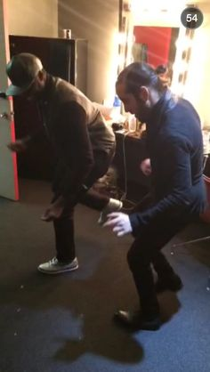 Kevin and Avi dancing like the beautiful queens they are