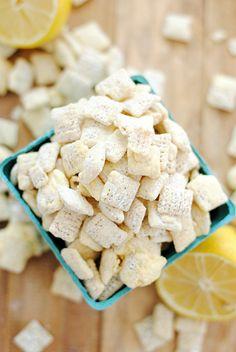 Lemon White Chocolate Muddy Buddies | www.somethingswanky.com