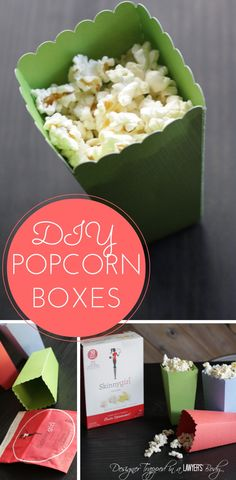 Snacking Well AND in Style {DIY popcorn boxes} |  Designer Trapped in a Lawyer's Body #SkinnyGirlSnacks #CollectiveBias #shop